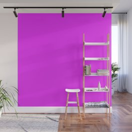 Solid Bright Neon Pink Color Wall Mural