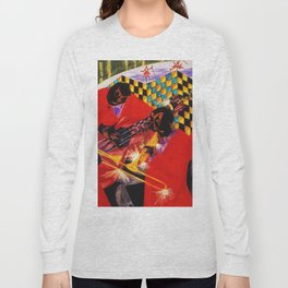 African American Masterpiece 'Village Quartet' by Jacob Lawrence Long Sleeve T-shirt