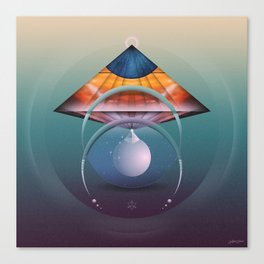 ∆ andromedan eclipse Canvas Print