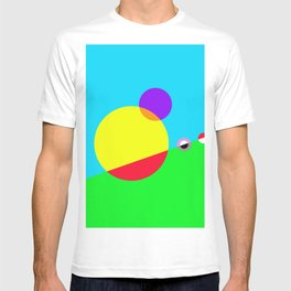 Circles #1 Abstract Modern Painting by Bruce Gray T-shirt