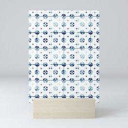 Azulejo I - Portuguese hand painted tiles Mini Art Print