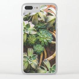 Botanical Gardens Succulent #882 Clear iPhone Case