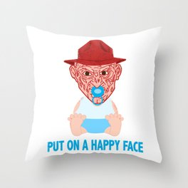 Put on a Happy Face Throw Pillow