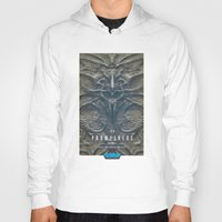 prometheus Hoodies featuring Prometheus - A film poster by Dukesman