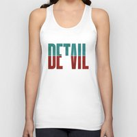 david Tank Tops featuring Devil in the detail. by David