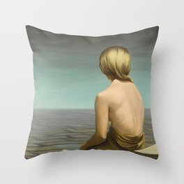 'Well-behaved Women Seldom Make History' female portrait by Kay Sage Throw Pillow
