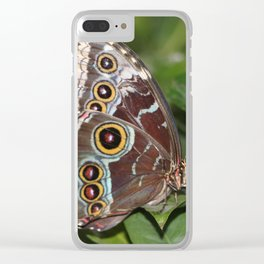 Spotted Butterfly Clear iPhone Case