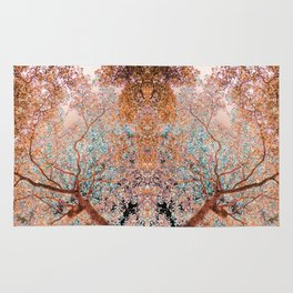The Lungs of the Earth - Gold, Pink &Turquoise Rug
