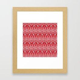Brittany Spaniel fair isle christmas dog breed pet pattern doggo gifts Framed Art Print