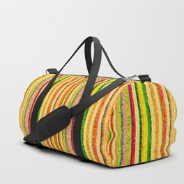 Colorful Stripes and Curls Duffle Bag