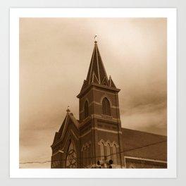 Stormy Church Art Print