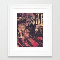 sopranos Framed Art Prints featuring The Sopranos (in memory of James Gandolfini)1 by Nechifor Ionut