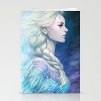 frozen Stationery Cards featuring Frozen by Artgerm™