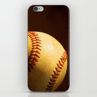 baseball iPhone & iPod Skins featuring Baseball by Janice Sullivan