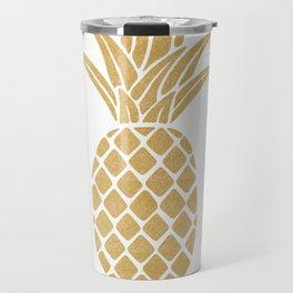Regal Gold Pineapple Travel Mug