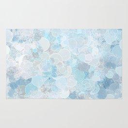 Graffiti dream - blue and nude Rug