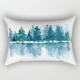 Smoky Mountain Trees Reflected Rectangular Pillow