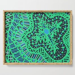 Doodle 16 Blue Serving Tray