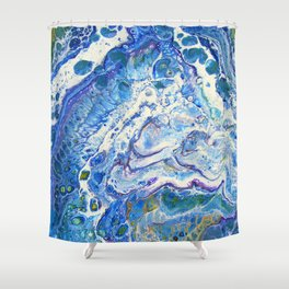 The Shallows Abstract Shower Curtain