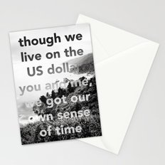 our own sense of time Stationery Cards
