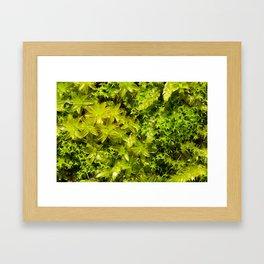 Autumn Moss Framed Art Print