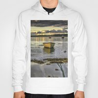 rowing Hoodies featuring Sheephaven bay by cmphotography