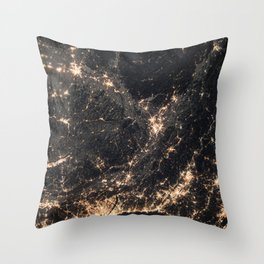 1002 - ISS Map of Connecticut & New Jersey Throw Pillow