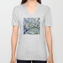 Pastel Blue Calla Lilies Unisex V-Neck