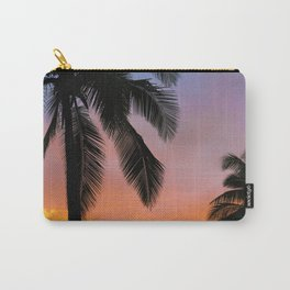 Sunset Silhouette Palm Tree (Color) Carry-All Pouch