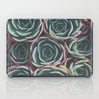 succulents iPad Cases featuring SUCCULENTS by The Pixel Gypsy