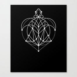 The Turtle Sacred Geometry Canvas Print