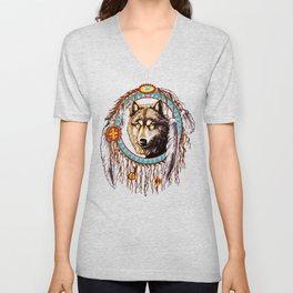 Wolf Dreamcatchers Unisex V-Neck