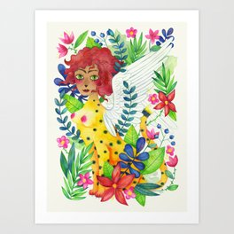 Tropical Sphinx Art Print