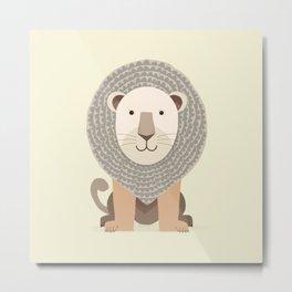 Whimsical Lion Metal Print
