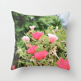 Bashful Summer Throw Pillow