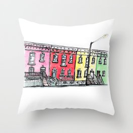 DC row house no. 1 II Columbia Heights Throw Pillow