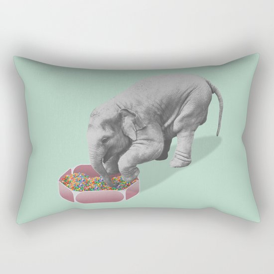 Gourmand elephant (animals collection) Rectangular Pillow