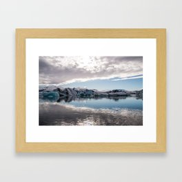 Jökulsárlón Glacier Lagoon Framed Art Print