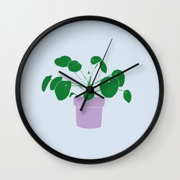 pilea peperomioides Wall Clock