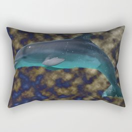 Bowing in shades of blue and gold Rectangular Pillow