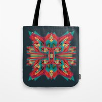 cyberpunk Tote Bags featuring Summer Calaabachti Heart by Obvious Warrior