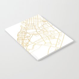 DUBAI UNITED ARAB EMIRATES CITY STREET MAP ART Notebook