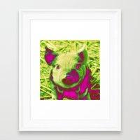 piglet Framed Art Prints featuring Diabolic PIGLET by MehrFarbeimLeben