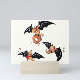 Festive Fruit Bats Mini Art Print