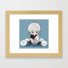 Gintama - Gintoki Sakata Cute Framed Art Print