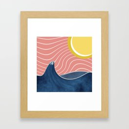 Sun, beach and sea Framed Art Print