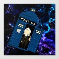 Tardis in space Doctor Who war 8.5 Canvas Print