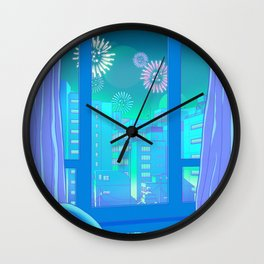 Tokyo Summer Dreams Wall Clock