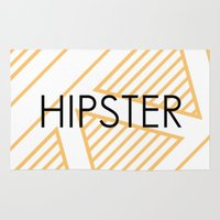 hipster Area & Throw Rugs featuring Hipster by Mr and Mrs Quirynen