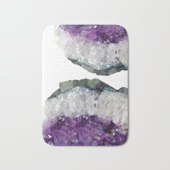Double Amethyst Bath Mat